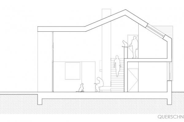 Zweigeschoßiger Wohnraum mit Galerie