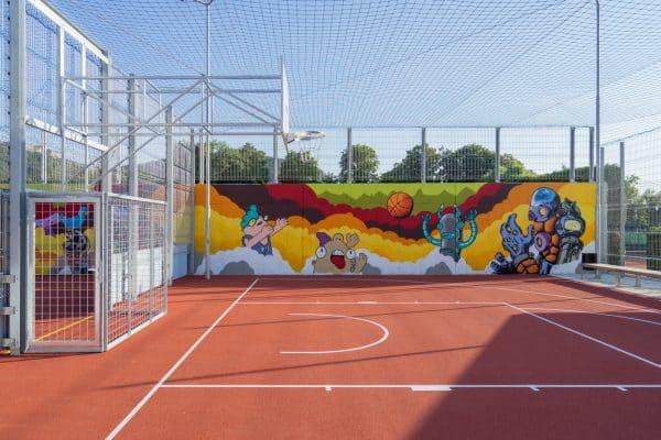 Streetsoccer und Basketball gleichzeitig